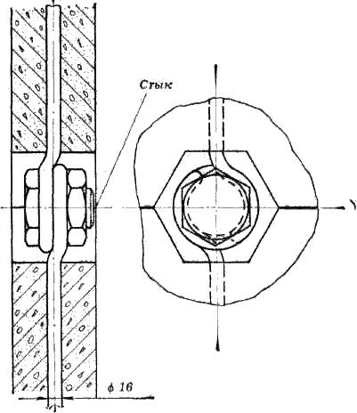 Соединение бетонных колец стержнями