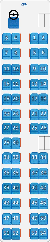 Автобус 36 мест схема
