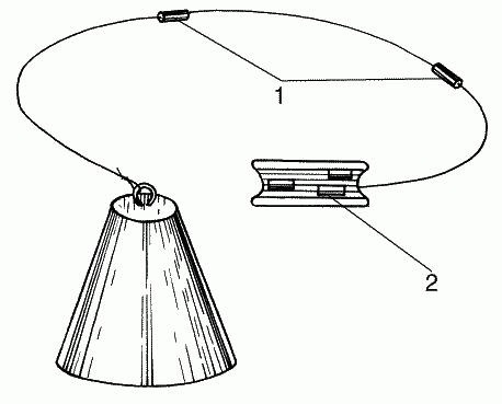 Глубомер в виде свинцового конуса