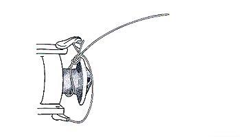 как наматывать леску на инерционную катушку