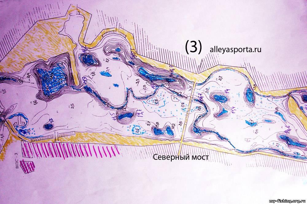 Карты глубин Воронежского водохранилища: http://housecomputer.ru/rest/fishing/maps/topography/36/voroneg_reservoir.html