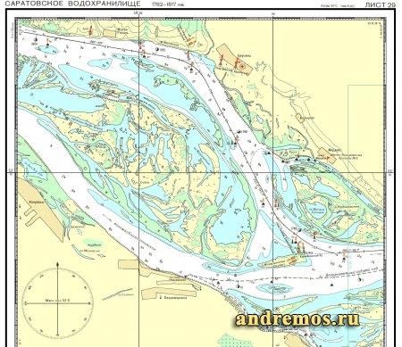 карта волги для рыбака саратов