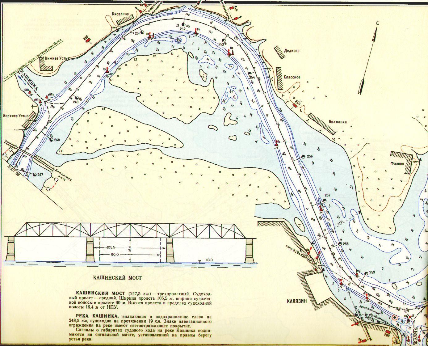 рыбацкое речной карта