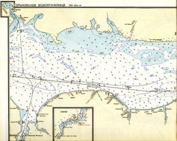 карта глубин днепродзержинского водохранилища для рыбалки