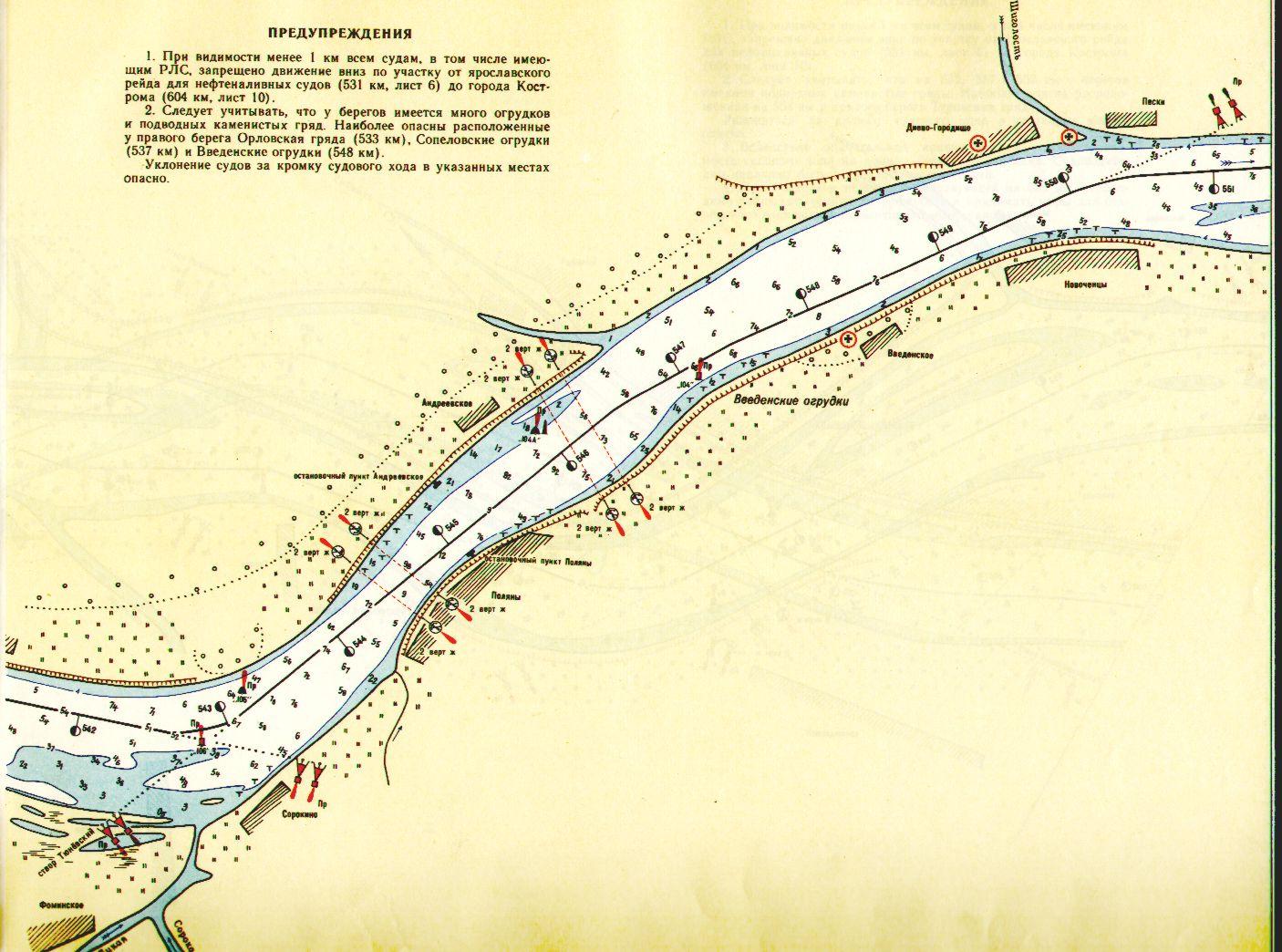 карта рыболовных мест на горьковском водохранилище