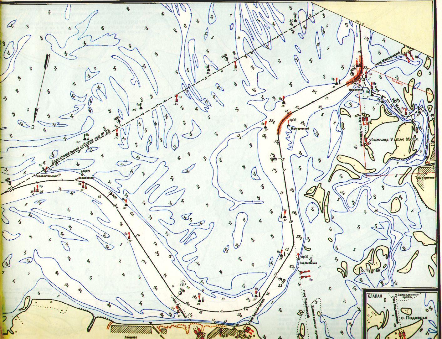 растровые карты для рыбаков