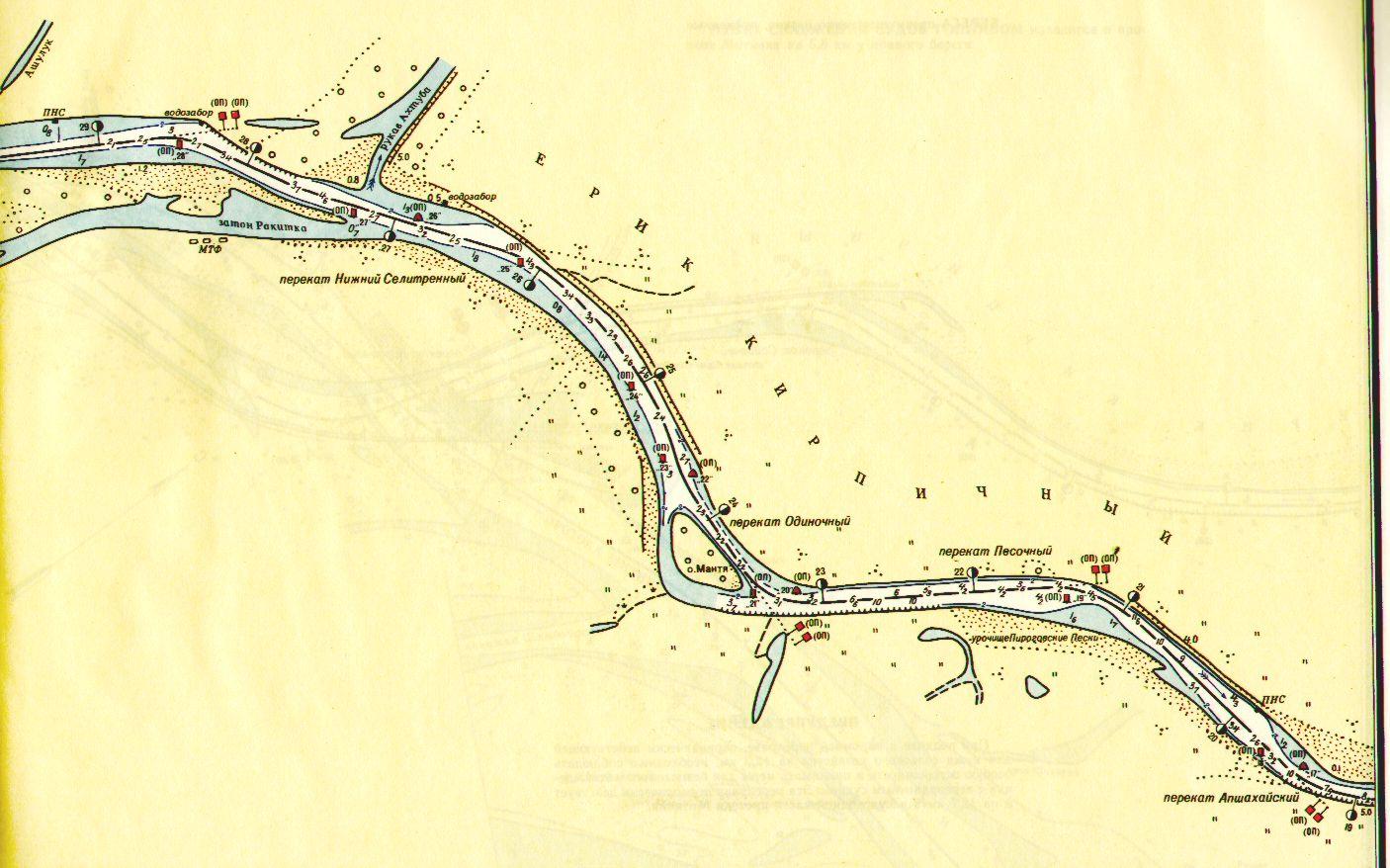 карта ахтубы с глубинами и рыболовными точками
